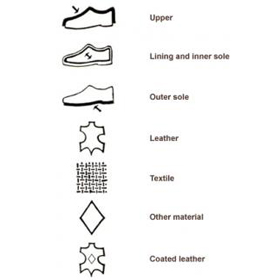 Suede Leather Shoe Labels